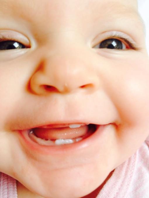 Lily Anička má 5 zoubků