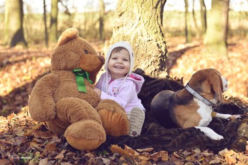 Lily Anička s medvědem a Mimi